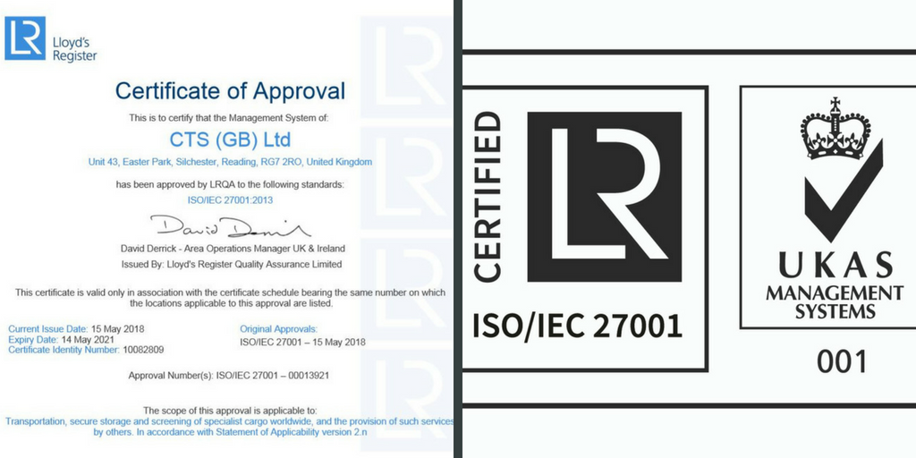 Cts Achieves Iso 27001 Certification Cts Logistics